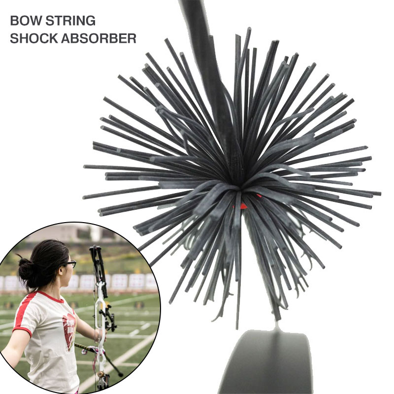 1pcs/2pcs Rubber Black Bowstring Shock Absorption Bow String Silencer Soft Cat Whisker Archery Field DIY