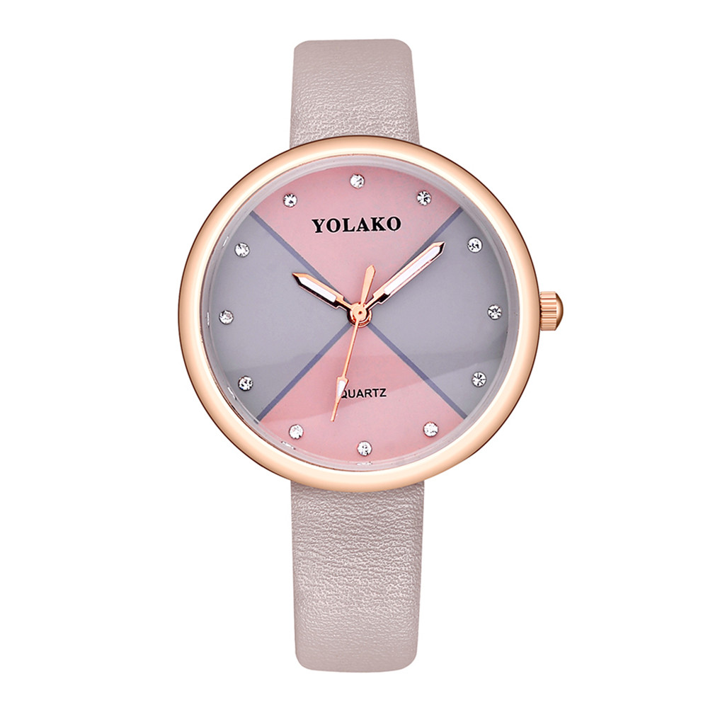 Women Watches Luxury Clock Womens Fashion Leather Band Analog Quartz Round Dress Wrist Watch Watches reloj mujerRelogio Feminino