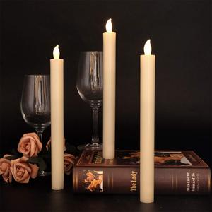 Image 2 - Eldnacele Set of 6 Flameless Flickering Candles Real Wax Candles LED Window Taper Candles with Timer and Remote Control