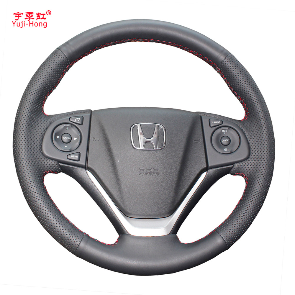 Yuji hong car steering wheel covers case for honda crv 2012 2015 crider genuine