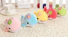 12cm super cute dolphine plush toy porpoise stuffed font b doll b font small pendant phonestrape