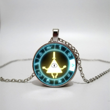 CIPHER WHEEL friends gifts men's pendant necklace handmade pendant charm glass necklace convex round necklace handmade custom 2019 new trend color woodpecker glass convex round pendant necklace youth accessories handmade necklace pendant