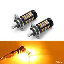 2x Car Front Fog Light Bulbs LED PSX24 H10 H7 H8/H11 9006 DC 12V 3030 SMD 3000K 6000K 8000K Lamp Yellow White Ice Blue
