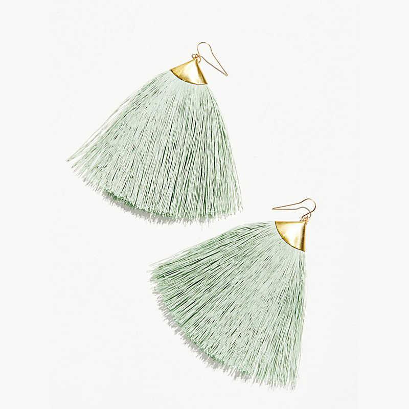 Vintage Ethnic Long Tassel Earrings Women Bohemia Fringe Large Statement Drop Earring Handmade Fashion ZA 2018 Jewelry Wholesale