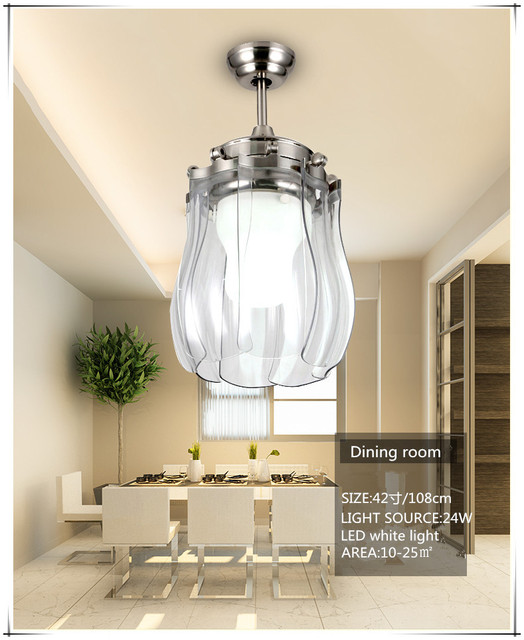 Modern simple s shaped led ceiling fan lights with foldable modern simple s shaped led ceiling fan lights with foldable invisible blades aloadofball Gallery