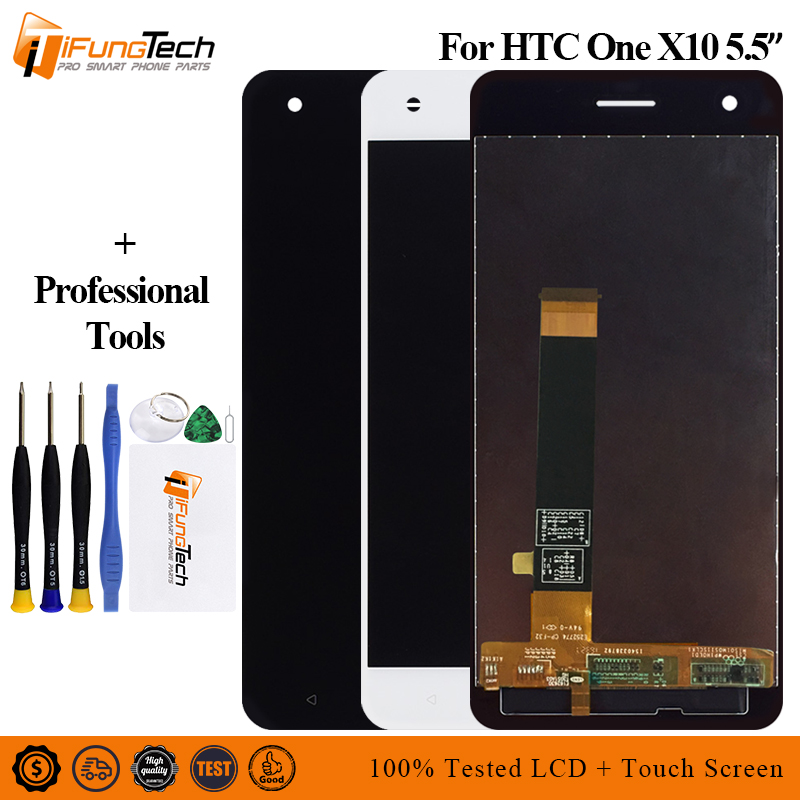 5.5 inch New LCD For HTC ONE X10 X 10 X10w X10u Full LCD DIsplay + Touch Screen Digitizer Assembly For HTC E66 LCD