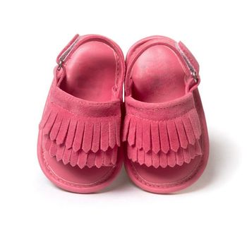 Baby Sandals PU Baby Girl Shoes Newborn PU Tassel Fashion Baby Girl Sandals 9 Color Baby Boy Shoes 2018 Summer Boy Sandals