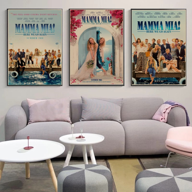 The poster for the hit TV series mamma mia! 2: again retro style