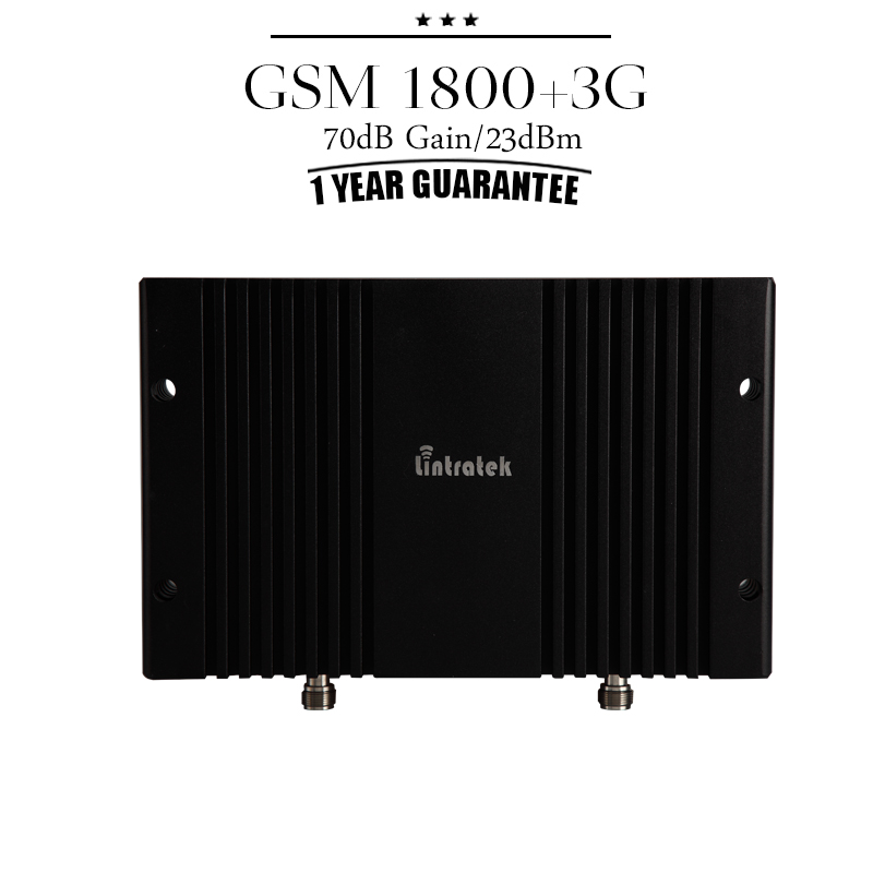 GSM 1800 + 3G WCDMA 2100 Cellular Signal Repeater 70dB Gain DCS 1800mhz UMTS 2100mhz Mobile Phone Booster Power Amplifier #30