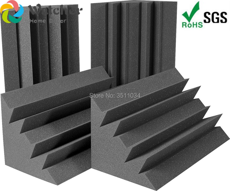 1BOX 4pcs Big size 50x25x25cm Acoustic Foam Bass Traps Sound Absorption Treatment for Corner Wall Soundproof Sponge in Sealing Strips from Home Improvement