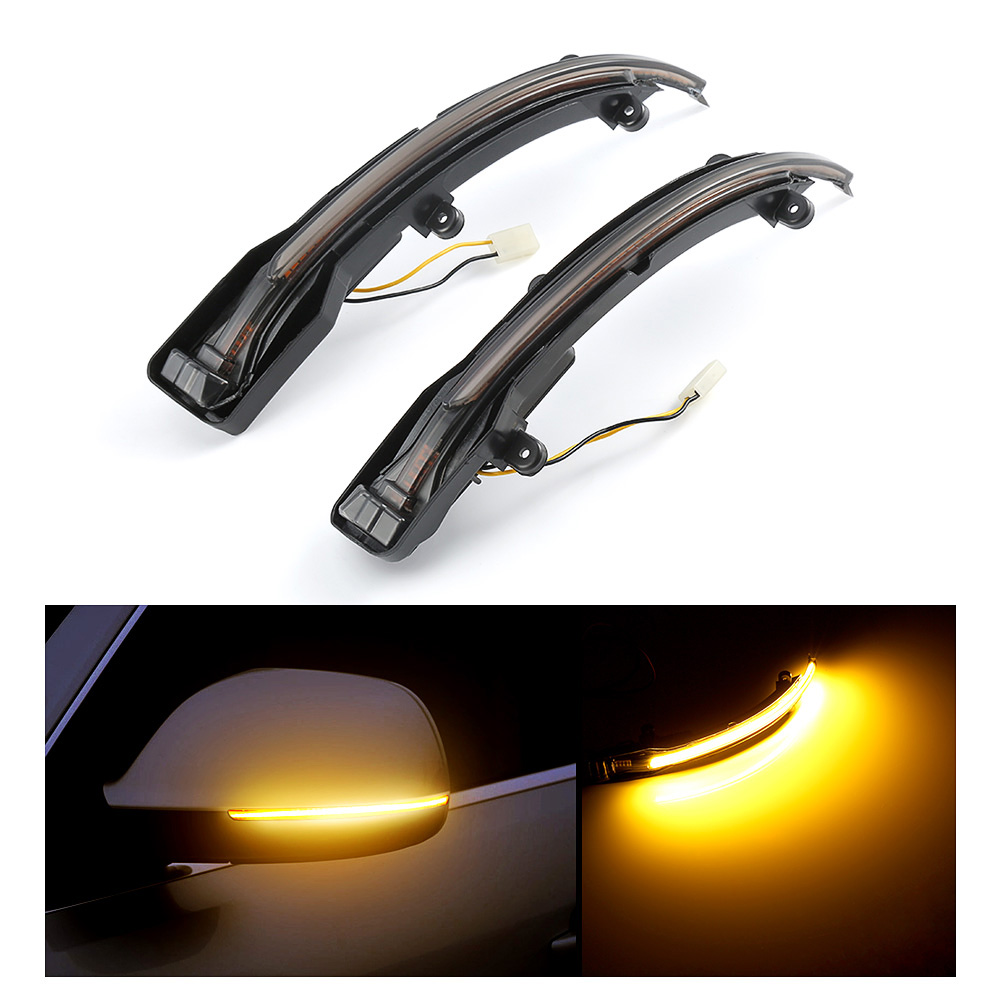 Car LED Light Turn Signal Light For Audi Amber LED Blinker Smoked Side Mirror Sequential Blink