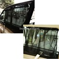 E79   1 Pair Black Car Sun Shade Curtain Suction Cup UV Protection Side Window Curtain