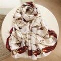 2017 НОВЫЙ бренд весна лето женщин шелковый шарф, Шаль Дамы Шарфы Палантины дамы печати шарфы 190*90 см