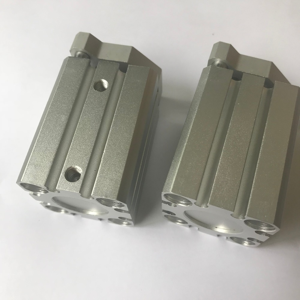 bore 63mm X 40mm stroke Pneumatics CQM Compact Cylinder CQMB Compact Guide Rod Cylinder bore size 63mm 40mm stroke smc type compact guide pneumatic cylinder air cylinder mgpm series