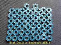 Free shipping 50PCS 6X10X3 Motor bearing MR106 2RS ABEC3 6x10x3mm Model bearing