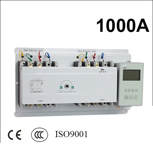1000A 3 poles 3 phase ats 220V/ 230V/380V/440V automatic transfer switch with English controller fast shipping 6 pins 5kw ats three phase 220v 380v gasoline generator controller automatic starting auto start stop function