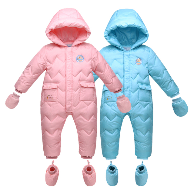 c331dcf90a61 2017 Keep Thick Warm Infant Baby Rompers Winter Clothes Newborn Baby ...