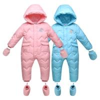 Winter Warm Baby Duck Down Rompers Infant Boy Thick Jumpsuit Baby Wear Girl Snowsuit Kid Newborn