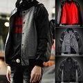 Мужчины пальто бейсбол куртка на открытом воздухе addas горячие продажа одежда случайный ветровки куртки и пиджаки плюс размер корейской моды