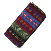 Sansarya 2017 Tribal Jacquard Woven Wheat Long Women Wallet Boho Ladies Card Holder Aztec Female Purse