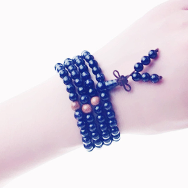 2015 Fashionable New Coming Unisex Blue/Gold Sandstone Round Beads Multilay Bracelets Elastic Rope Chain for Men  Women's Gift