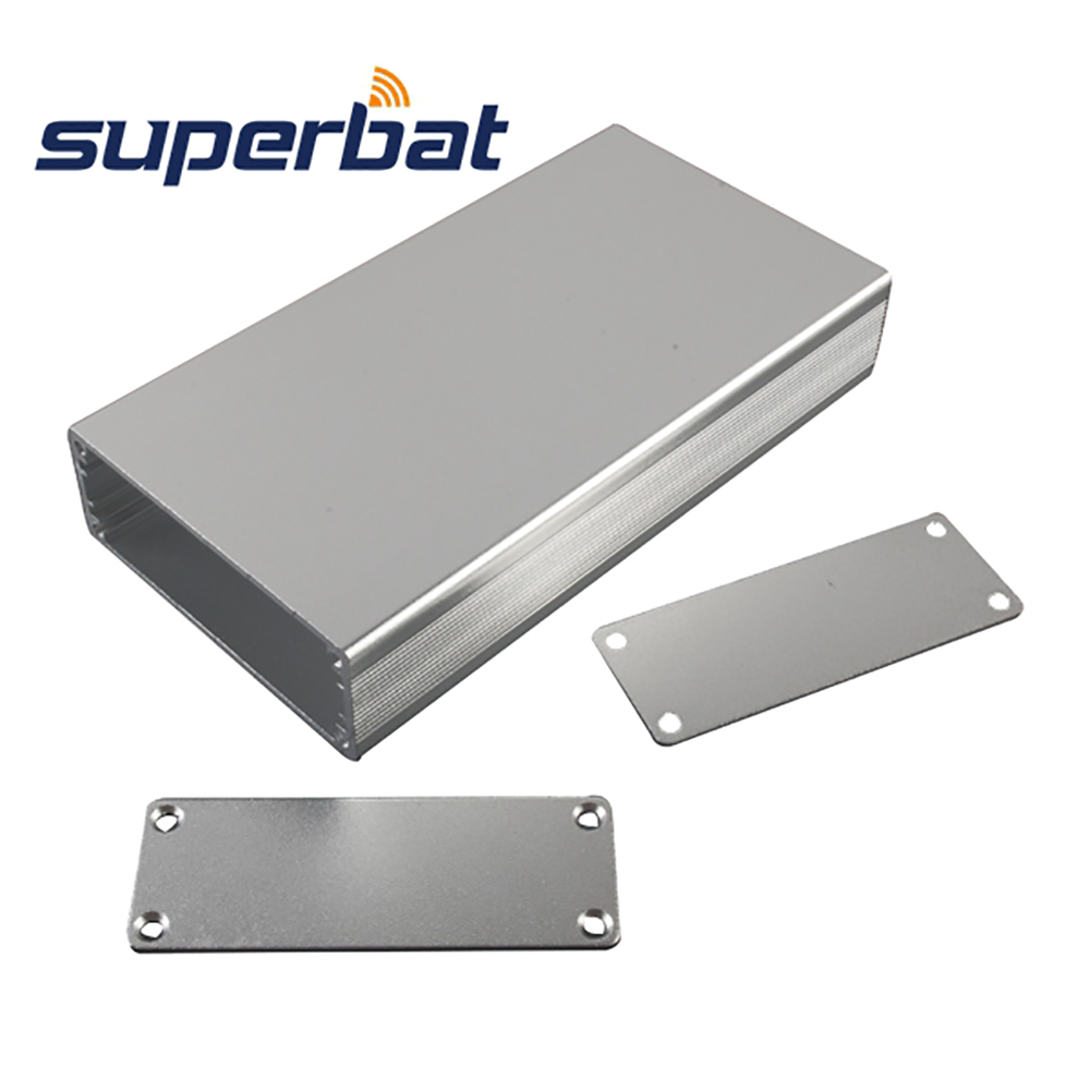 Superbat 23.4mm*64mm*120mm Silver Extruded Aluminum Box Enclosure Case Project 4.71