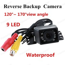 hot sell Night Vision Color CMOS Car Rear View Camera 9 LED Waterproof Reverse Backup Camera E327
