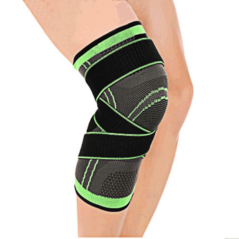 Sports Safety Elbow & Knee Pads Wholesale 3d Weaving Elastic Nylon Sport Compression Knee Pad Sleeve Men Women Fitness Running Cycling Knee Support Braces