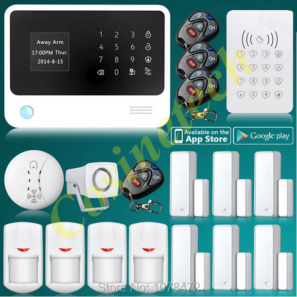 2015 new product Internet WiFi GSM GPRS Home Security Alarm System G90B alarm  Kit RFID Keypad PIR Detector Door smoke Sensor yobangsecurity touch keypad wifi gsm gprs home security voice burglar alarm ip camera smoke detector door pir motion sensor