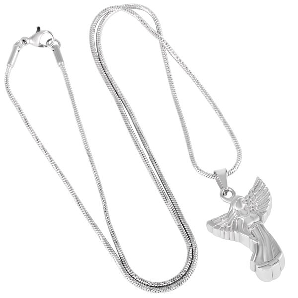 Silver Angel Urn Necklace