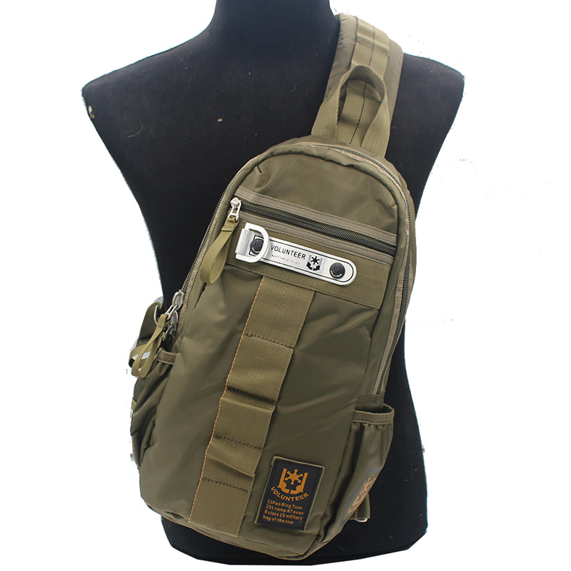 Mężczyźni wysokiej jakości Wodoodporny Oxford Military Single klatki piersiowej Day Back Pack Sling Shoulder Assualt Assault Cross Body Messenger Bag