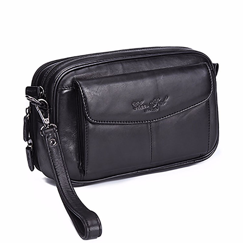 Men's Fashion Business Clutch Wrist Bag Luxury Hand Bag Wallet Phone Bags Travel Casual Pack Clutch Handbag