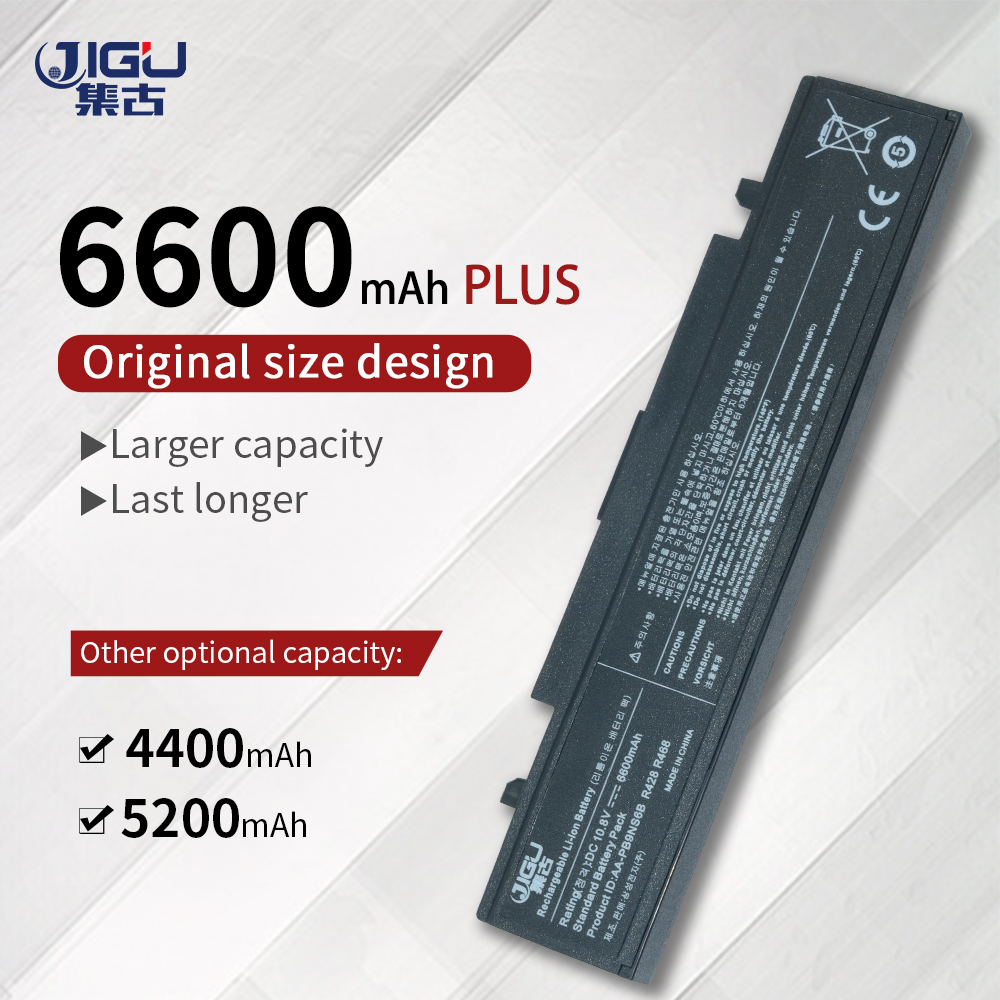 JIGU Laptop <font><b>Battery</b></font> For <font><b>SAMSUNG</b></font> NP-<font><b>R519</b></font> R530 R522 <font><b>R519</b></font> AA-PB9NC6B R520 R470 R428 Q320 R478 <font><b>BATTERY</b></font>, Black AA-pb9ns6b image