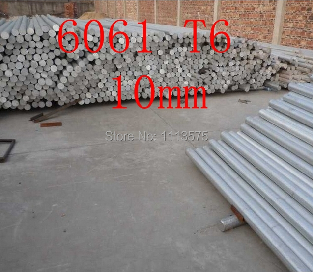 10mm 6061 T6 al aluminium solid round bar rod