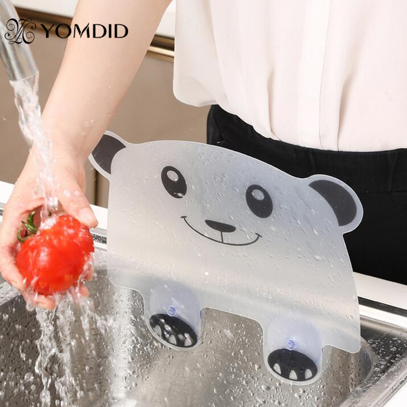 Protector contra salpicaduras de agua, ventosa para la cocina, impermeable, Panda