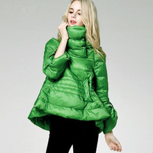 Turtleneck Jacket Loose Ladies Down Coat Fashion Warm White Duck Down Jackets Womens High Quality Mother Clothes Winter Big Size