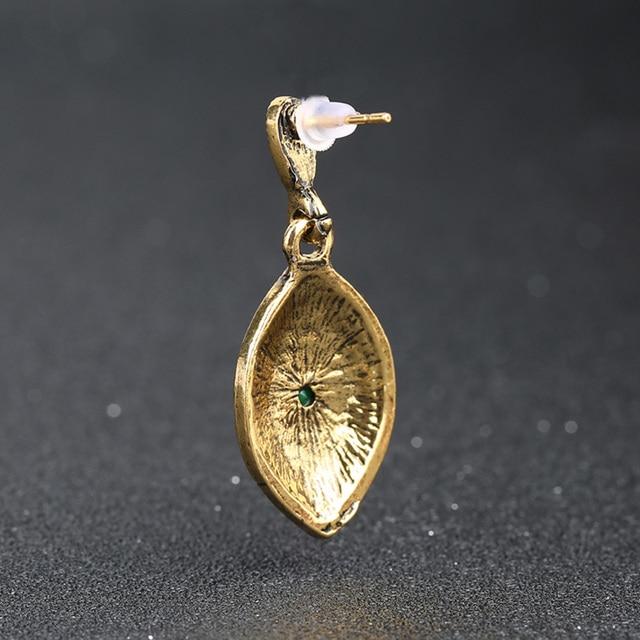 2015 Vintage Earrings For Women   Gold Fashion Earrings AAA Resin Long Big Drop Dangle Earring Indian Jewelry