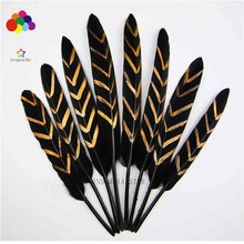Z & Q Y high quality 100 small duck hair 12-18CM (5-7 inch) feather spray geometric pattern gold DIY jewelry head accessories