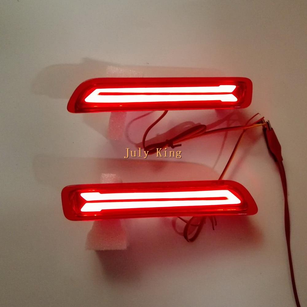 Julai King Kereta LED Light Guide Brake Llights + Malam Kes Memandu - Lampu kereta