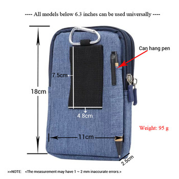 Cowboy Cloth Phone Pouch Belt Clip Bag for Samsung A5/A8/J5 2016/J7/J3 Case with Pen Holder Waist Bag Outdoor Sport Phone Cover 1