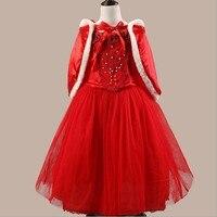 10pcs Lot Pretty Long Party Girls Dress Elsa Blue Princess With Shawl Dress Chlid Kids Dress