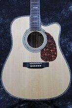 "Starshine sr-r-d45c acústica eléctrica Guitarras Grover sintonizador tapa sólida Fishman EQ oro hardware 41""cutway acústica Guitarras"
