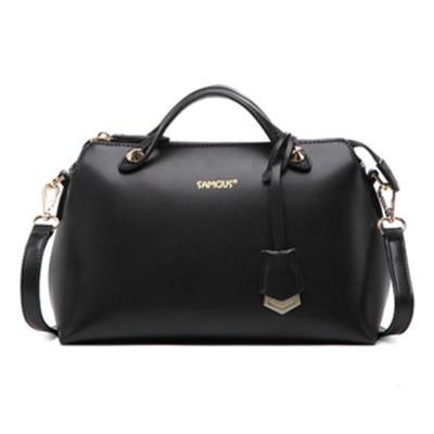 ФОТО New Hot Women Boston Bags Casual Fashion Wild Female Portable Handbag Retro Messenger Shoulder Bags High-grade Leather