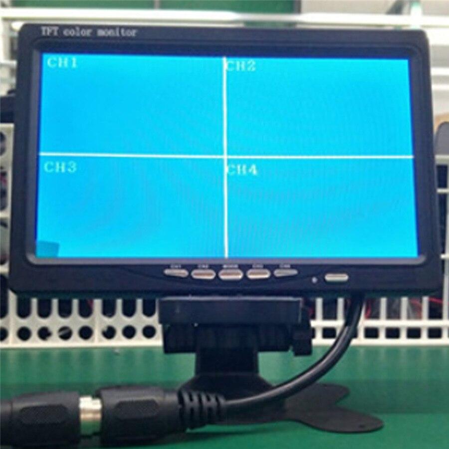 9 pouces TFT LCD écran 4 voies entrée voiture moniteur 4 Split vue arrière affichage pour rétroviseur caméra arrière voiture TV affichage pour Bus camion