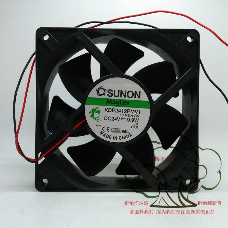 New Original SUNON KDE2412PMV1 DC24V 9.9W 120*120*38MM 12CM Inverter cooling fan delta new furniture in 12038 ffb1224she 24 v 1 20 big air volume converter cooling fan for 120 120 38mm