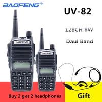 מכשיר הקשר 2pcs מכשיר הקשר CB רדיו Baofeng UV-82 Dual Band 136-174 / 400-520 MHz FM משדר Ham שני הדרך רדיו FM משדר 8W מתח (1)