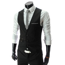 Fashion 2015 New Arrival Men Suit Vests Men s Fitted Leisure Waistcoat Casual Business vests Tops