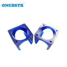 2Pcs lot E 3D V5 Fan Cover 3D Printer DIY injection Molding Cooling POM Plastic Blue