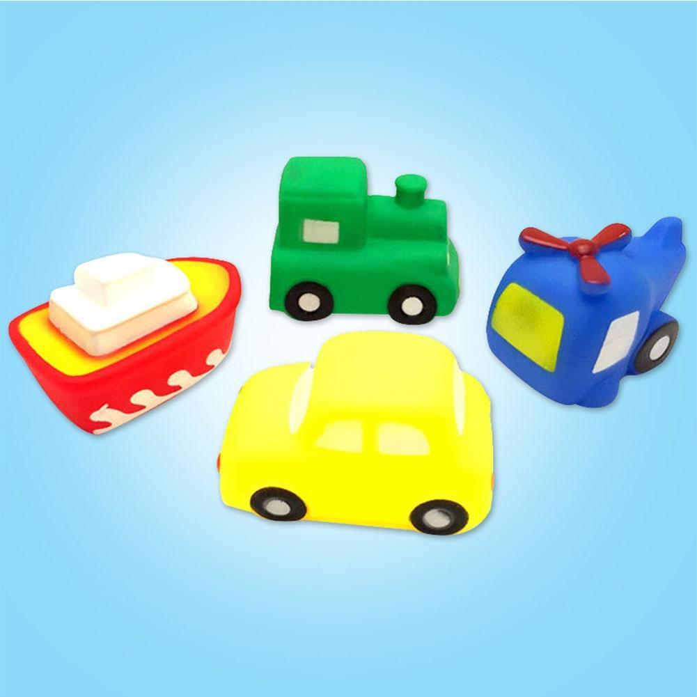 LeadingStar 4pcs Kids Swimming Toys Set PVC Vehicle Boat Airplane ...