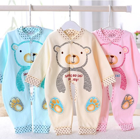 Fashion 2017 New Spring Warm Jumpsuit Coveralls Cotton Baby Romper Wholesale Fashion Newborn Climbing Clothes Baby Girl Clothes